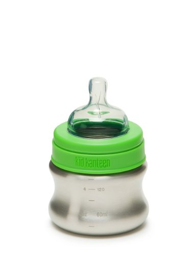 Klean Kanteen Edelstahl Babyflasche 148 ml Bottle, Brushed Stainless, 8020000