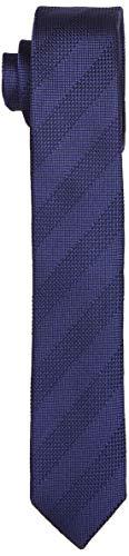 Seidensticker Herren Krawatte Seidenkrawatte, Blau 18, One Size (Herstellergröße: 5 cm breit)