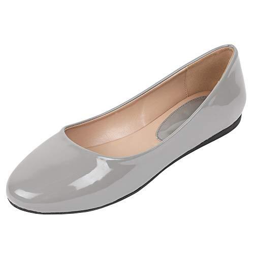 Zapatillas de Mujer de Bailarinas con Cierre de Clip Planas, clásicas, cómodas, para Bodas y Fiestas...