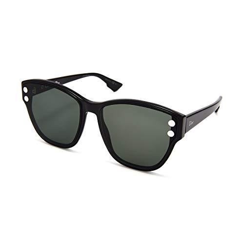 Dior Frau Christian DiorAddict 3 Sonnenbrille w/Grün-Objektiv 60mm 807O7 Addict 3 DiorAddict3 Schwarz groß