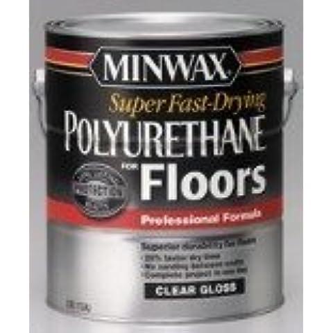 Minwax 13021000 Super Fast-Drying Polyurethane For Floors, 1 gallon, Semi-Gloss by Minwax - Super One Gallon