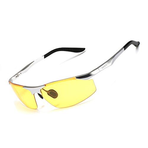 8e411eda6e SOXICK Men s HD Polarized Night Driving Glasses Anti Glare Safety Glasses  Professional HD Night Vision Glasses