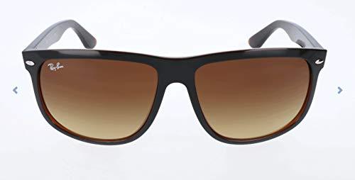 Ray Ban Unisex Sonnenbrille RB4147, Mehrfarbig (Gestell: Schwarz, Gläser: Braun Verlauf 609585), Large (Herstellergröße: 60)
