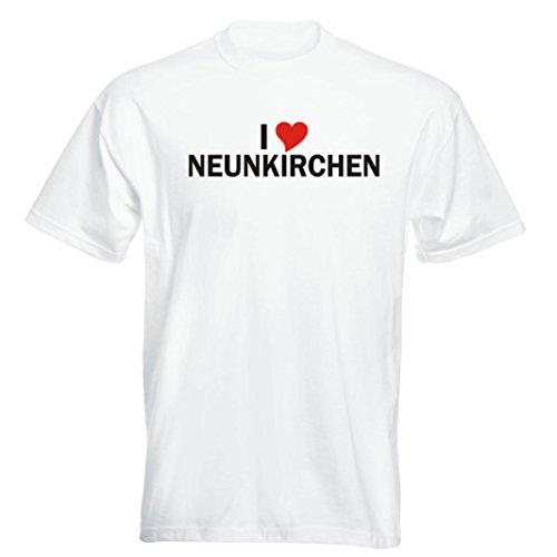 T-Shirt - i Love Neunkirchen - Herren - unisex Weiß
