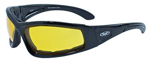 Global Vision Eyewear Schwarz Rahmen triumphierend Sicherheit Gläser, gelb