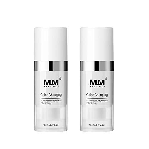 TIREOW Farbwechsel Foundation Makeup Base Nacktes Gesicht Liquid Cover Concealer Brighten für Frauen Männer