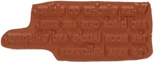 Gourmet Rubber Stamps Cling Stamps 2.75 X4.75 -When Witches Go Go Go Riding | Meno Costosi Di