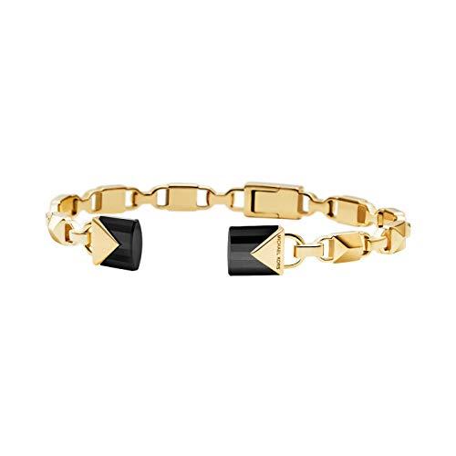Michael Kors Damen-Armreif 925er Silber One Size Gold/schwarz 32002717