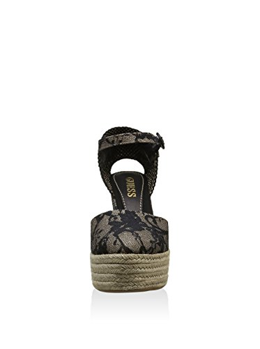 Guess Donna Sandalo FLVIN2 LAC08 BLACK Sandalo in tessuto fondo corda Black