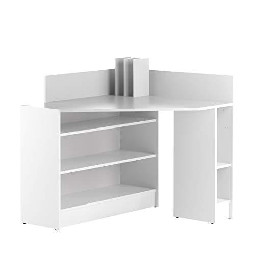 Marca Amazon -Movian Ulla - Escritorio esquinero, 94 x 94 x 98.6cm (largo x ancho x alto), blanco