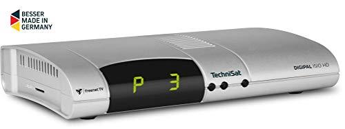 TechniSat Digipal ISIO HD DVB-T2 Receiver (PVR Aufnahmefunktion, HDTV, kartenloses Irdeto-Zugangssystem für freenet TV, App-Steuerung, Smart TV, 12 Volt) silber