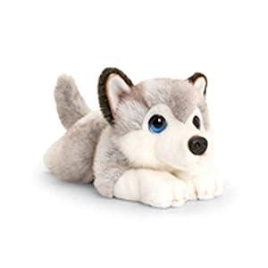 Keel Toys SD2522 - Juguete Suave, Color Gris y Blanco