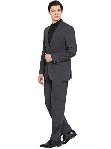 Dressvip Herren Smart 2 Stück Anzug Slim Fit Einreiher Blazer Jacke und Hose (Blau, 3XL) (Einreiher Drei Anzug Stück Mit)
