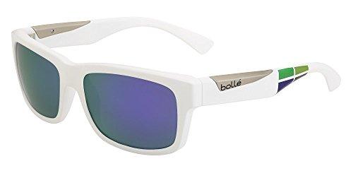 Bollé Jude Herren Sonnenbrille Medium Matte White/Square Blue Violet