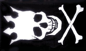 Skull with Crown Pirate Flag Polyester 3x5 Foot Crossbones Jolly Roger Banner - Flag Crown