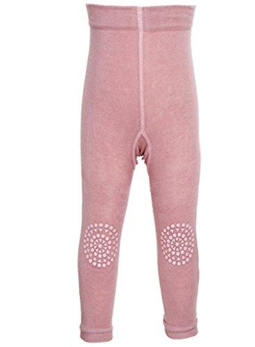 GoBabyGo Baby Krabbel Leggins mit ABS an Knien (80/86, Rosa) - Kinder Leggings mit Gummibeschichtung an Knien, Öko Tex zertifiziert....