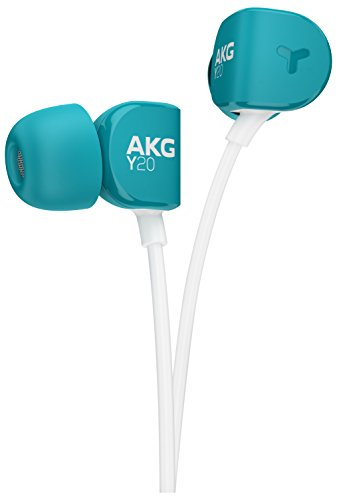 AKG Signature Y20UTEL in-Ear Stereo Headphone with Mic (Teal) Image 4