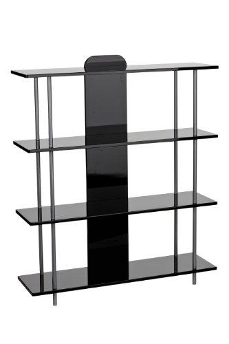premier-housewares-2402796-estanteria-de-4-estantes-de-cristal-y-acero-119-x-100-x-28-cm-color-negro