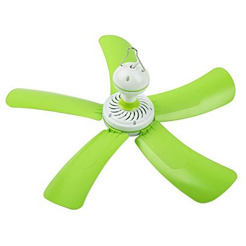 Deckenventilator Fünf-Blatt Kinder/Kinder-Mini-Brise-Silent Schlafsaal für Moskitonetz/grüner einfacher (Deckenventilator Fünf Lichter)
