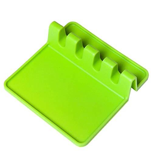 Jinzuke Beständig Hitze Löffel Gabel Mat Küchenzubehör Silikon Rast Löffel Spatel Küche, die Werkzeug-Zubehör (Hitze Sicher Spatel)