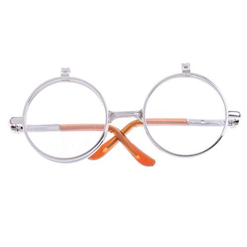 Sharplace 1/6 Mädchen Puppen Doppelt Linsen, Gefaltete Gläser Sonnenbrille Puppenbrille - # 15