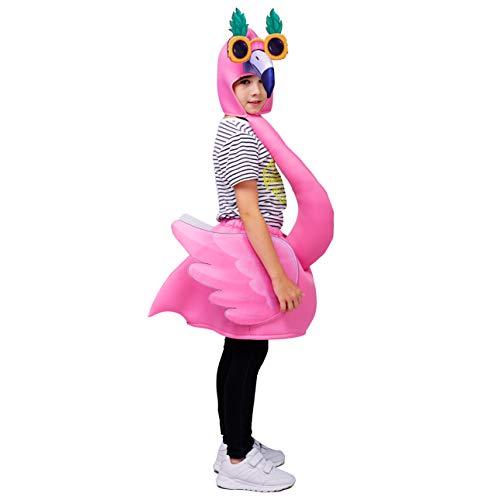 Kostüm Rosa Haar - Sea Hare Flamingo Kostüm für Kinder (Einheitsgröße) (Rosa)