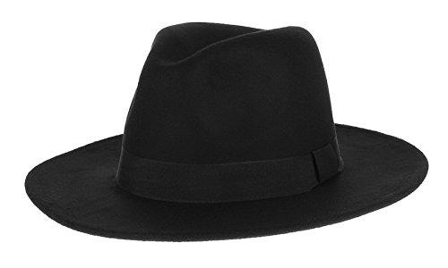 EOZY-Uomo Ragazzi Retrò Cappello di Jazz Fedora Berretto Piatto in Panno Colore 5