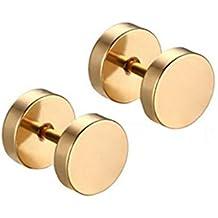 Contever® 1 Paio 8MM Magnetico Gioielli in Acciaio Inossidabile Orecchini D'oro per Uomo Donna - Delfini Croce