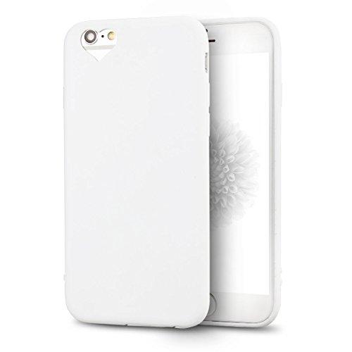 iPhone 6S Plus Hülle, iPhone 6 Plus Silikon Schutzhülle, Anfire Candy Handy Case Hülle für Apple iPhone 6S Plus / 6 Plus (5.5 Zoll) Liebe Herz Muster Weich TPU Silikon Schutzhülle Schön Muster Schale  Weiß