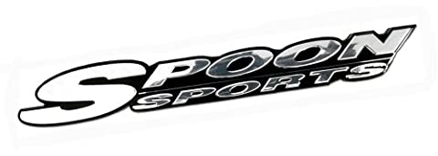SPOON SPORTS SILVER on Black Emblem Badge Nameplate Decal Rare for Honda Acura Type R Type-r TYPE-S S GT Civic Integra Si CRZ CRX GSR Prelude Accord NSX RS LS GS CRV CR-V CRZ CR-Z TSX Element Fit S2000 JDM80 81 82 83 84 85 86 87 88 90 91 9293 94 95 96 97 98 00 01 02 03 04 05 06 07 08 09 10 11 12 13 1980 1981 1982 1983 1984 1985 1986 1987 1988 1989 1990 1991 1992 1993 1994 1995 1996 1997 1998 1999 20 2001 2002 2003 2004 2005 2006 2007 2008 2009 2010 2011 2012 2013