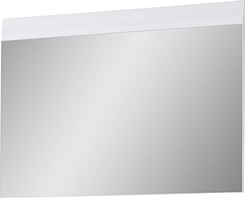 Germania 3525-84 Spiegel mit Applikation GW-Adana in Weiß, 87 x 63 x 3 cm (BxHxT)