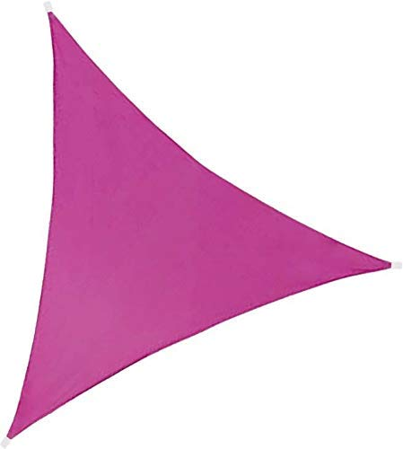 Idéprice Voile d'ombrage triangulaire 3X3X3m polyester déparlent anti UV 140 gr/m2, Rose, 33 x 17 x 5 cm