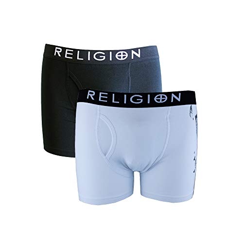 Religion Herren Boxershort, Slogan Weiß weiß Gr. L, weiß