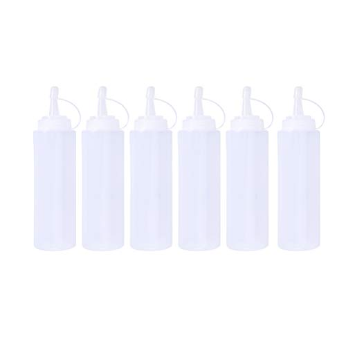 UPKOCH 10 stücke 450 ml 16 Unze Kunststoff Quetschflaschen Würze Spritzen Flaschen für Öl Sauce Dressing Mehrwegbehälter Kleber Handwerk (weiß) - Wasserdichter Kleber-dressing