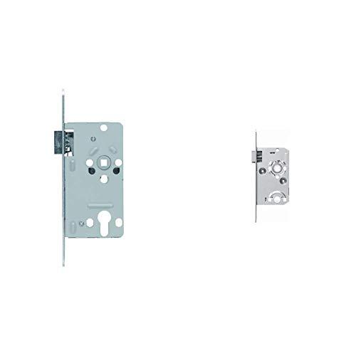 ABUS Tür-Einsteckschloss Profilzylinder TKZ20 R S, für DIN-rechts Türen, silber 21039 & 36763 2 -...