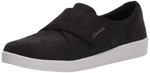 Skechers Damen Madison Ave - Distinctively Slip On Sneaker, ((Charcoal Textile/Tan & Natural Trim BKW), 2 EU Trim Slip-ons