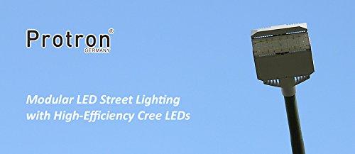 protron Lampe Route Éclairage LED Lanterne 20 W jusqu'à 135 W – Choix Set, modèle : Jupiter ; W Nombre : 72–90 W (réglable)