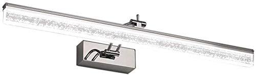 KNHG Nordic Edelstahl Spiegelfront LED wasserdichte Lichter Anti-Fog-Spiegel Schrank Badezimmerschrank in Eitelkeit und Wandleuchten (Farbe: Weißes Licht-6W / 40cm) -
