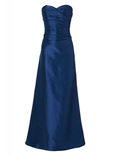 GEORGE BRIDE Formale elegante Satin Liebsten Langes Abendkleid / Ballkleid / Brautjungfer Kleid Koenigsblau