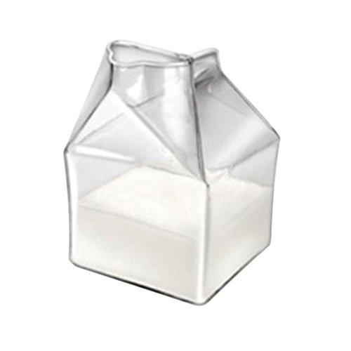 Hipsteen 200ML Pinta Mezza in Vetro Soffiato Mini Latte Scrematrice