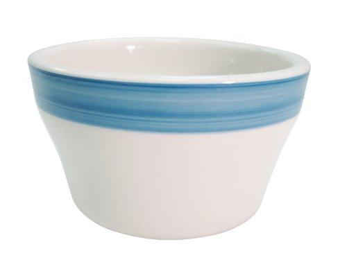 CAC China Regenbogenfarbener Steingut-Bouillon blau China Bouillon