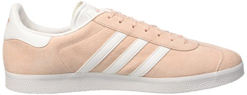 adidas Gazelle, Baskets Basses Mixte Adulte Rose (Vapour Pink/White/Gold Metallic)