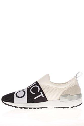 Scarpe Sneaker Slip On Donna LIU JO Addict Nero Bianco Sneaker Elastici Tessuto Grigio