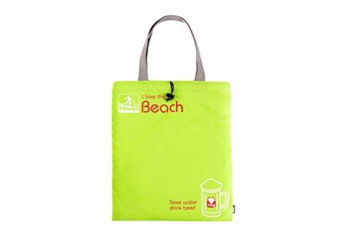 Borsa Mare, GOX Premium Large 190T Nylon Portatile Multi-funzionale Borsa da spiaggia / Borsa coulisse / Abbigliamento e Calzino Borsa di Stoccaggio / Viaggia Organizzatori con Manico / Beach Tote Bag (Verde)