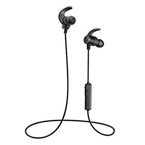 TaoTronics TT-BH16 Bluetooth Sport IPX5 Splash Proof Magnetic Headphone with Snug Fit and Built-in Ceramic Antenna