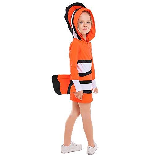 Kleinkind Märchen Klassiker Kostüm - MAATCHH-TGKT Halloween Kostüm- Mädchen Halloween Anemonenfisch-Kostüm-Märchen-Partei