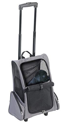 Sweetypet Hunderucksack: 2in1-Hunde-Trolley und Rucksack mit Sichtfenster, bis 20 kg, anthrazit (Transporttasche Hund)