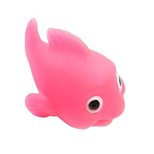 TAOtTAO Badezimmer LED Fisch Licht Kinder Spielzeug Wasser Induktion Wasserdicht In Wanne Dekoration (Rosa) Rosa Rose Night Light