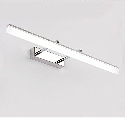 Lgtam Spiegelleuchte, LED Spiegelschrank Licht, Bad Wasserdicht und Nebel Nordic Modern Einfache Wandlampe Schmink Lampe Kommode Lampe [CFL] (Farbe: Weiß, Warmes Licht) Größe: (15.7