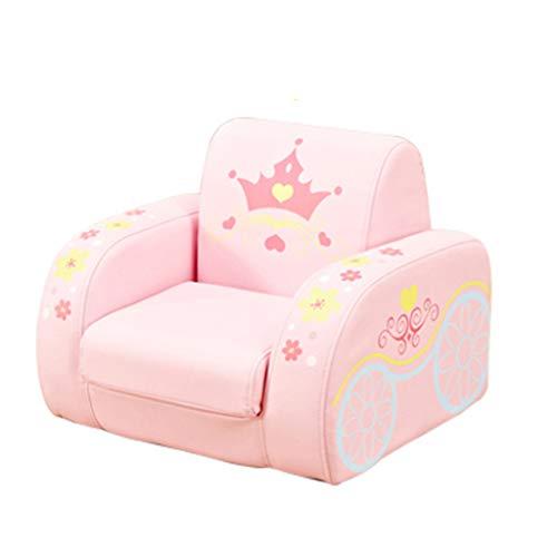 LRSFM Kindersessel für Mädchen Jungen, 2 in 1 Flip Off Foam Sofa für Kinder (Farbe : Rosa)